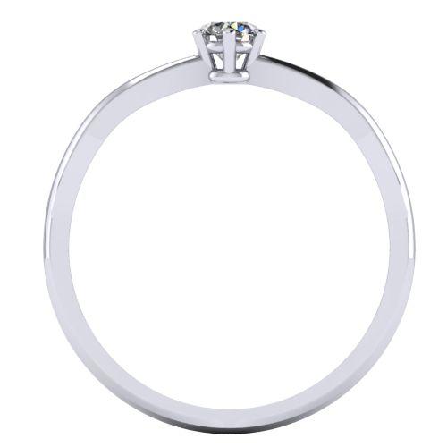 Годежен Пръстен бяло злато с диамант Wings 0,12 ct. 2135 b