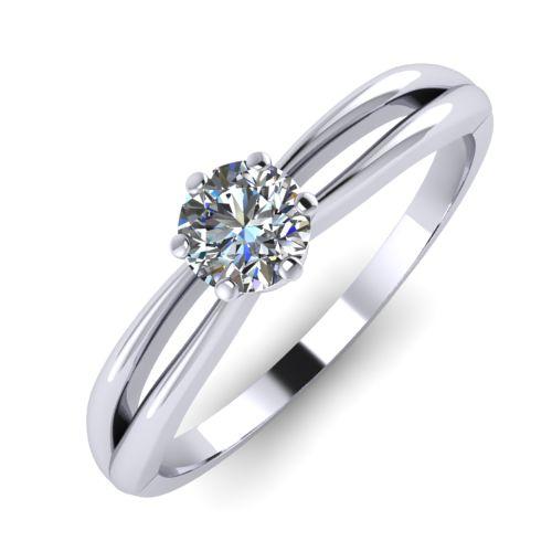 Годежен Пръстен бяло злато с диамант Wings 0,12 ct. 2135