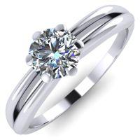 Годежен Пръстен бяло злато с диамант Wings 0,17 ct. 2136