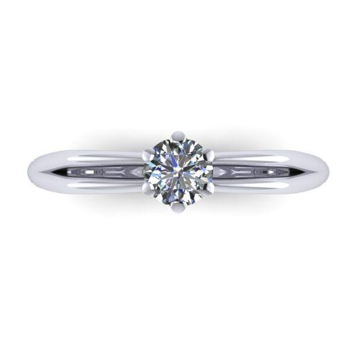 Годежен Пръстен бяло злато с диамант Wings 0,17 ct. 2136 a