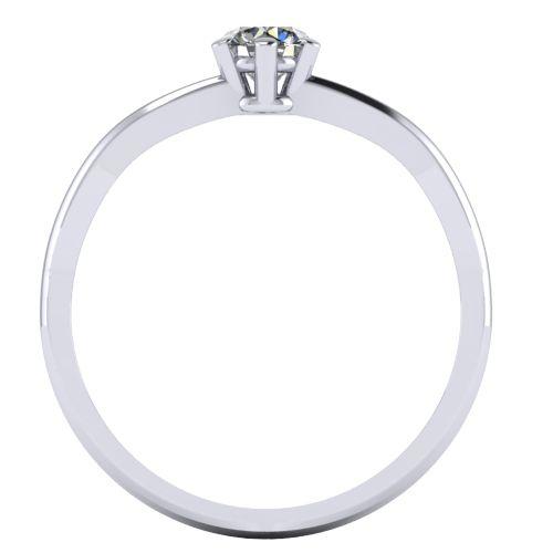 Годежен Пръстен бяло злато с диамант Wings 0,17 ct. 2136 b