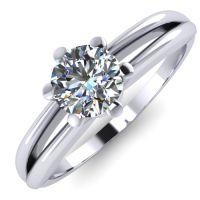 Годежен Пръстен бяло злато с диамант Wings 0,25 ct. 2137