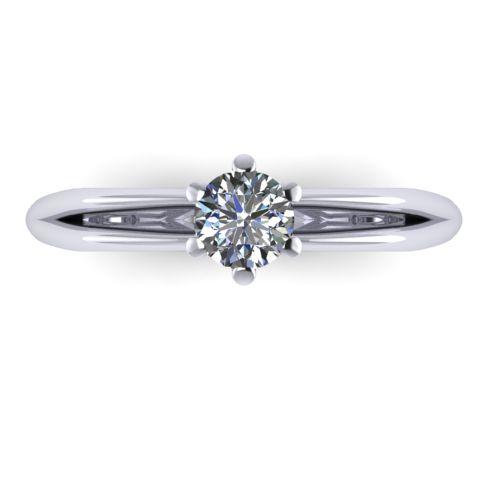 Годежен Пръстен бяло злато с диамант Wings 0,25 ct. 2137 a
