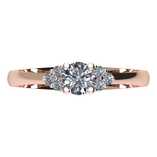 Годежен Пръстен розово злато с диамант Grape 0,26 ct. 2091 a