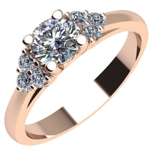 Годежен Пръстен розово злато с диамант Grape 0,26 ct. 2091