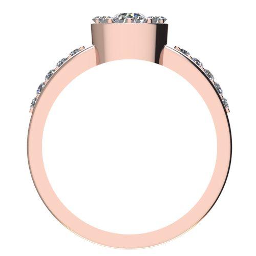 Годежен Пръстен розово злато с диамант Halo 0,47 ct. 2084 b