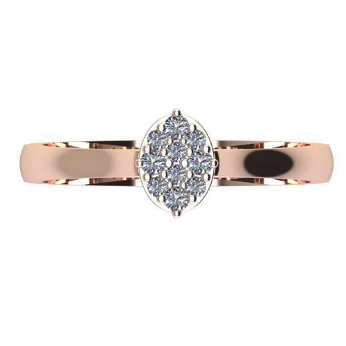 Годежен Пръстен розово злато с диамант Snowy 0,12 ct. 2097 a