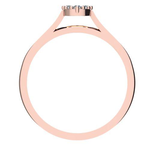 Годежен Пръстен розово злато с диамант Snowy 0,12 ct. 2097 b