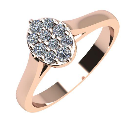 Годежен Пръстен розово злато с диамант Snowy 0,12 ct. 2097