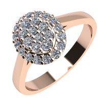 Годежен Пръстен розово злато с диамант Snowy 0,28 ct. 2099
