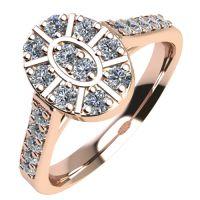 Годежен Пръстен розово злато с диамант Snowy 0,30 ct. 2108