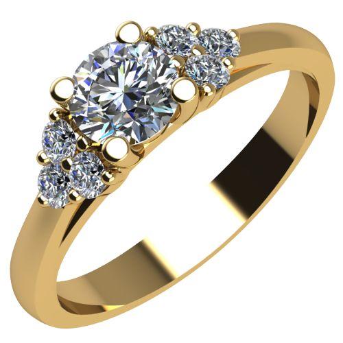 Годежен Пръстен жълто злато с диамант Grape 0,26 ct. 2090