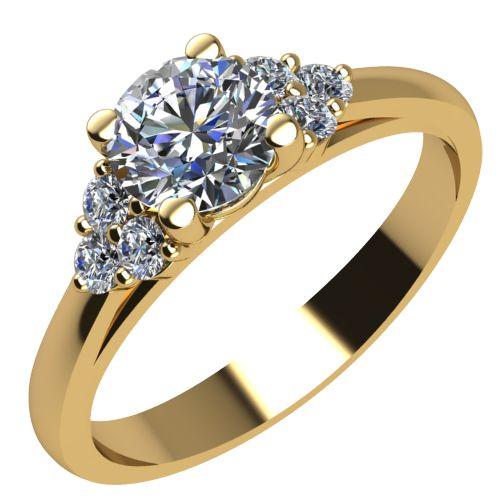 Годежен Пръстен жълто злато с диамант Grape 0,34 ct. 2092