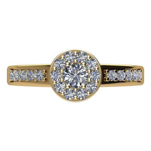 Годежен Пръстен жълто злато с диамант Halo 0,47 ct. 2083 a