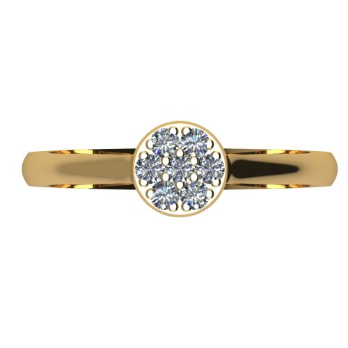 Годежен Пръстен жълто злато с диамант Snowy 0,10 ct. 2087 a