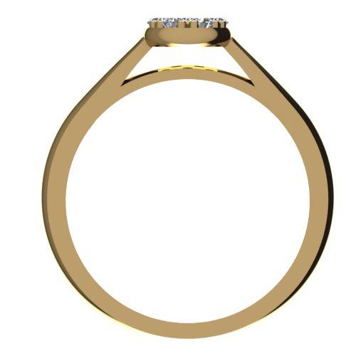 Годежен Пръстен жълто злато с диамант Snowy 0,10 ct. 2087 b