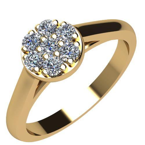 Годежен Пръстен жълто злато с диамант Snowy 0,10 ct. 2087