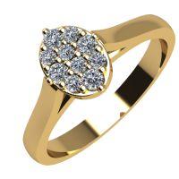 Годежен Пръстен жълто злато с диамант Snowy 0,12 ct. 2096