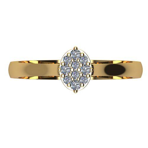 Годежен Пръстен жълто злато с диамант Snowy 0,12 ct. 2096 a