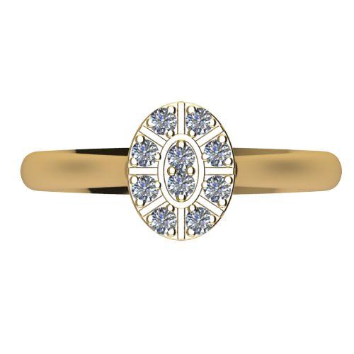 Годежен Пръстен жълто злато с диамант Snowy 0,15 ct. 2100 a