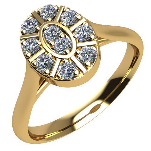 Годежен Пръстен жълто злато с диамант Snowy 0,15 ct. 2100