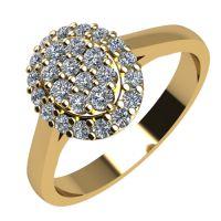 Годежен Пръстен жълто злато с диамант Snowy 0,28 ct. 2098