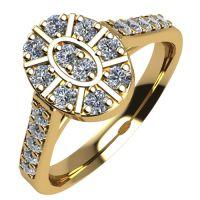Годежен Пръстен жълто злато с диамант Snowy 0,30 ct. 2107