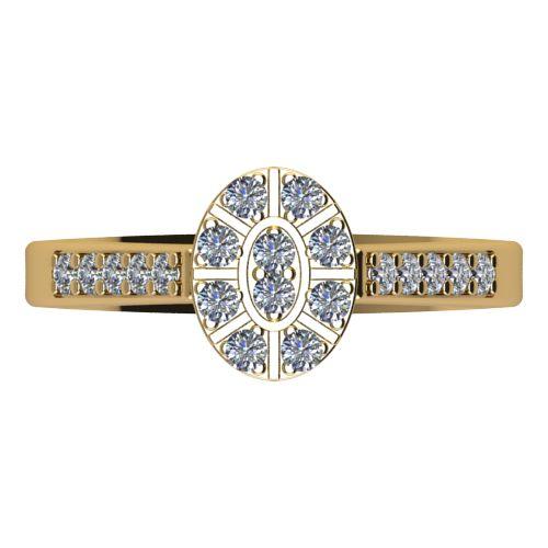 Годежен Пръстен жълто злато с диамант Snowy 0,30 ct. 2107 a