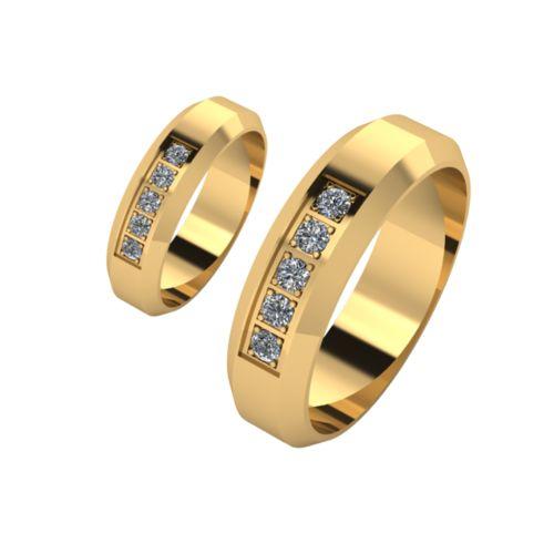 Брачни Халки жълто злато модел Spark кат.номер 7100