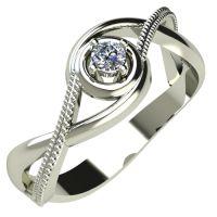 Годежен Пръстен бяло злато с диамант Cast 0,07 ct. 318