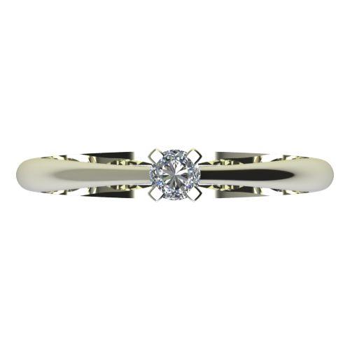 Годежен Пръстен бяло злато с диамант Ether 0,04 ct. 2142 a