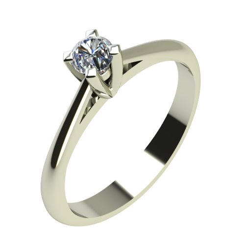 Годежен Пръстен бяло злато с диамант Ether 0,04 ct. 2142