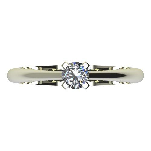 Годежен Пръстен бяло злато с диамант Ether 0,12 ct. 2144 a