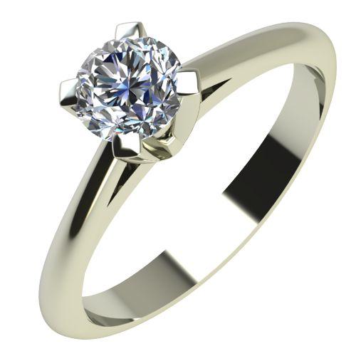 Годежен Пръстен бяло злато с диамант Ether 0,12 ct. 2144