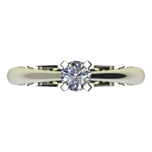 Годежен Пръстен бяло злато с диамант Ether 0,17 ct. 2145 a