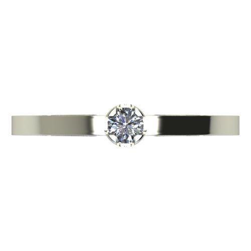 Годежен Пръстен бяло злато с диамант Flores 0,04 ct. 2149 b