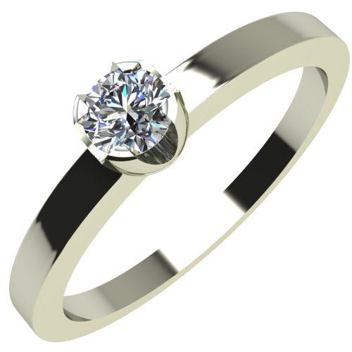 Годежен Пръстен бяло злато с диамант Flores 0,04 ct. 2149