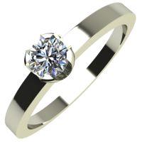 Годежен Пръстен бяло злато с диамант Flores 0,07 ct. 2150