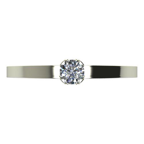 Годежен Пръстен бяло злато с диамант Flores 0,07 ct. 2150 a