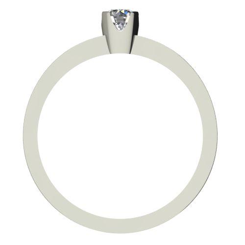Годежен Пръстен бяло злато с диамант Flores 0,12 ct. 2151 b