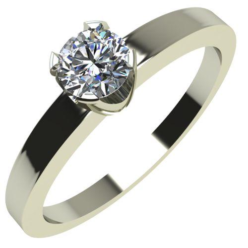 Годежен Пръстен бяло злато с диамант Flores 0,12 ct. 2151