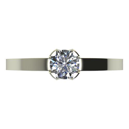 Годежен Пръстен бяло злато с диамант Flores 0,17 ct. 2152 a