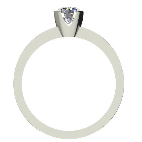 Годежен Пръстен бяло злато с диамант Flores 0,17 ct. 2152 b