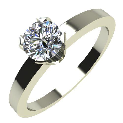 Годежен Пръстен бяло злато с диамант Flores 0,17 ct. 2152
