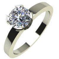 Годежен Пръстен бяло злато с диамант Flores 0,25 ct. 2153