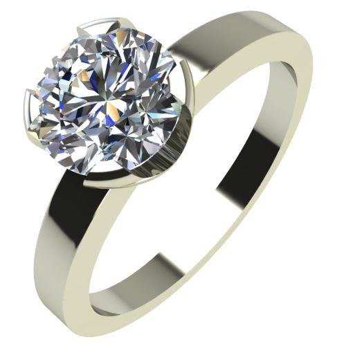 Годежен Пръстен бяло злато с диамант Flores 0,36 ct. 2154