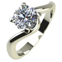 Годежен Пръстен бяло злато с диамант Unity 0,25 ct. 2140