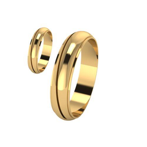 Брачни Халки жълто злато модел Chant кат.номер 7132