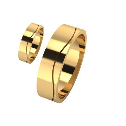 Брачни Халки жълто злато модел Lits кат.номер 7157