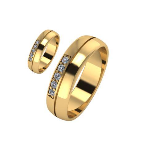 Брачни Халки жълто злато модел Shines кат.номер 7143